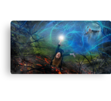 The Epic Battle Canvas Print