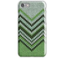 Knitted phone case greens iPhone Case/Skin