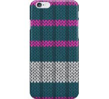 Knitted phone case pink & teal iPhone Case/Skin