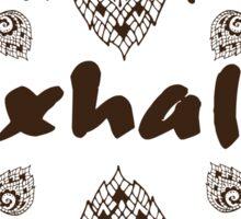 Henna Exhale Design Sticker