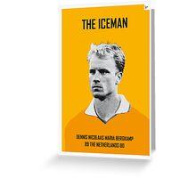 My Bergkamp soccer legend poster Greeting Card