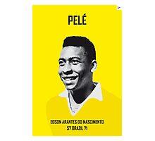My PELE soccer legend poster Photographic Print