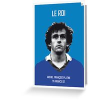 My Platini soccer legend poster Greeting Card