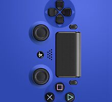 PS4 Controller Blue by sando91