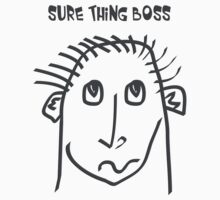Sure thing boss - meme, memes, comic, cartoon, fun, funny, funny faces Kids Clothes