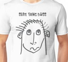 Sure thing boss - meme, memes, comic, cartoon, fun, funny, funny faces Unisex T-Shirt