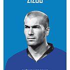 My Zidane soccer legend poster by Chungkong