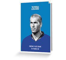 My Zidane soccer legend poster Greeting Card