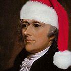 Alexander Hamilton with Santa Hat by SarahAnnPen