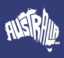 Australia Type Map (White) by seanings