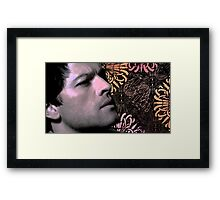 Contemplating Dean Framed Print