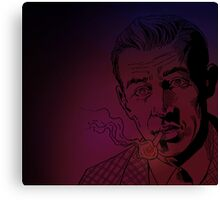 Benny Inked - Red Glow Canvas Print