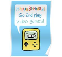 Video Game Birthday Card! Poster