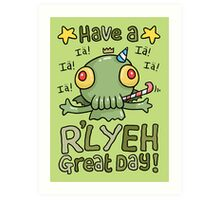 Cthulhu Birthday Card! Art Print