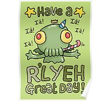 Cthulhu Birthday Card! Poster
