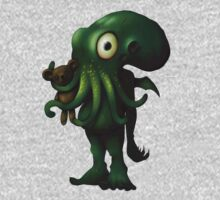 H P Lovecraft Baby Cthulhu with Teddy Kids Clothes