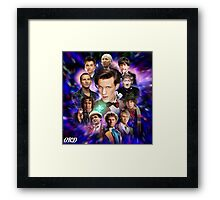 Doctor Who 50th Anniversary - All Doctors Framed Print