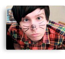 AmazingPhil/Phil Lester Cat Face Design Canvas Print