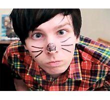 AmazingPhil/Phil Lester Cat Face Design Photographic Print