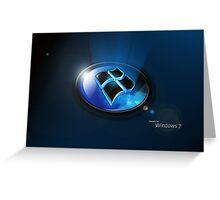 Windows 7 Greeting Card