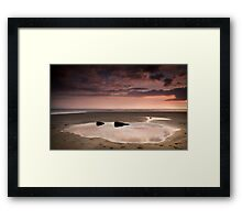 Beach Mirror Framed Print