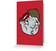 Zombie Head Greeting Card