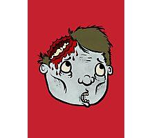 Zombie Head Photographic Print