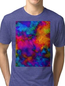 vibrant abstract color explosion  Tri-blend T-Shirt