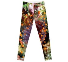 Orange Ball Corallimorph Anemone Leggings
