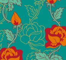 Floral pattern with orange roses Sticker