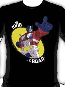 Optimus Prime - King of the Road (black tee) T-Shirt