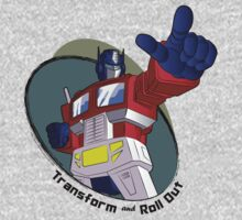 Optimus Prime - Transform and Roll Out One Piece - Long Sleeve