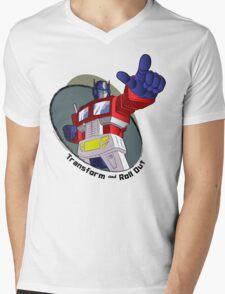 Optimus Prime - Transform and Roll Out Mens V-Neck T-Shirt