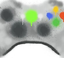 Xbox 360 controller spray paint by Liam  Golden