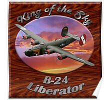 B-24 Liberator King Of The Sky Poster