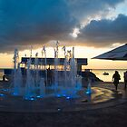 Fountains at Sunset in Cancún  by Imagery