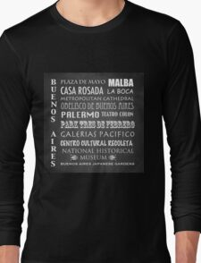 Buenos Aires Famous Landmarks Long Sleeve T-Shirt