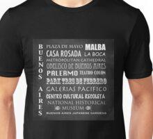 Buenos Aires Famous Landmarks Unisex T-Shirt