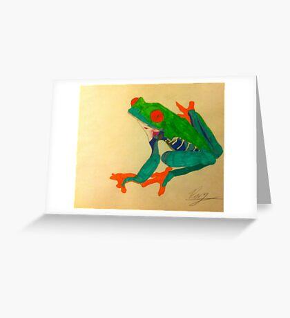Frogger Greeting Card