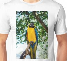 Parrot looking down Unisex T-Shirt