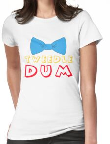 Tweedle Dum Womens Fitted T-Shirt