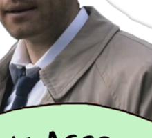 Hey Assbutt (Hipster Castiel) Sticker