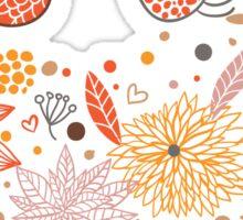 Floral Birds Sticker