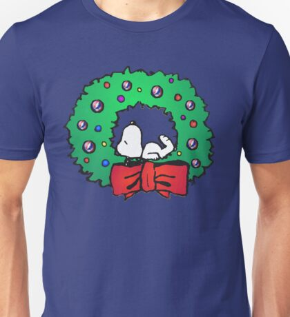 snoopy wreath Unisex T-Shirt