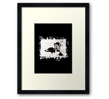 Vintage Design - Lady and Hound - classy! Framed Print