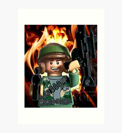 Lego Rebels Wants You! Art Print