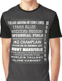 Burlington Famous Landmarks Graphic T-Shirt