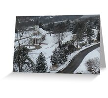 Snowy Drive Greeting Card
