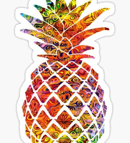 Multicolour Pattern Pineapple Sticker