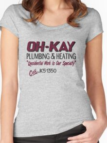 Oh-Kay Plumbing Women's Fitted Scoop T-Shirt
